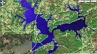Lake eufaula fishing guides cabins marinas rv parks fishing reports lake eufaula oklahoma map publicscrutiny Images