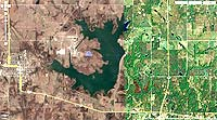 Lake Konawa Oklahoma map
