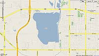 Lake Overholser Oklahoma map
