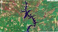 Lake Pine Creek Oklahoma map