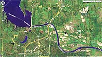 Red  River Oklahoma map