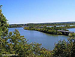 Twin Bridges State Park at Grand Lake Oklahoma