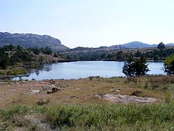 Lake Caddo in the Wichita Mountains National Wildlife Refuge